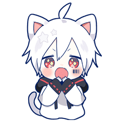 Mafumafu Animation sticker (cat)