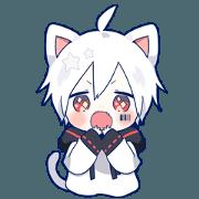 สติ๊กเกอร์ไลน์ Mafumafu Animation sticker (cat)
