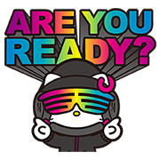 สติ๊กเกอร์ไลน์ DJ Hello Kitty