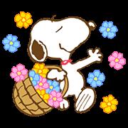 สติ๊กเกอร์ไลน์ Super Spring Snoopy Animated Stickers