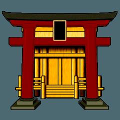 LINEスタンプ 日本の神社
