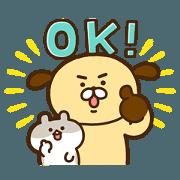 สติ๊กเกอร์ไลน์ Wanko & Hamchi2