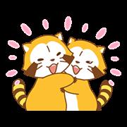 สติ๊กเกอร์ไลน์ Rascal and Lily: Raccoons in Love