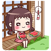 สติ๊กเกอร์ไลน์ Ms. Red Bean: Animated Sound Stickers 2