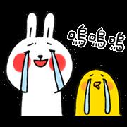 สติ๊กเกอร์ไลน์ Lazy Rabbit & Mr.Chu: On the Move 3