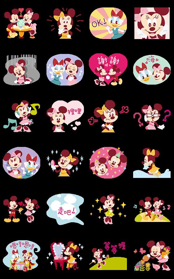 สติ๊กเกอร์ไลน์ Minnie's