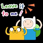 สติ๊กเกอร์ไลน์ Adventure Time 2 ดุ๊กดิ๊กได้