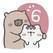 สติ๊กเกอร์ไลน์ คุณหมีและเจ้าเหมียว 6 : รักคุณทุกวัน