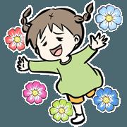 สติ๊กเกอร์ไลน์ Funny Girl Emumoto Emumi