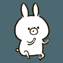 สติ๊กเกอร์ไลน์ white rabbit Stickers 1