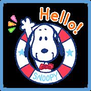 สติ๊กเกอร์ไลน์ SNOOPY Summer Stickers