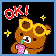 สติ๊กเกอร์ไลน์ Rilakkuma's Summer Stickers