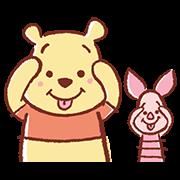 สติ๊กเกอร์ไลน์ หมีพูห์กับพิกเลต