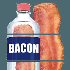 สติ๊กเกอร์ไลน์ Split bacon and vegetables