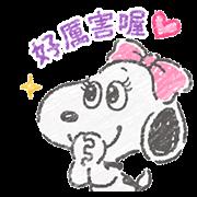 สติ๊กเกอร์ไลน์ Cute Crayon Belle Stickers