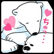 สติ๊กเกอร์ไลน์ Petit Anime Koi Suru Shirokuma☆มีเสียง
