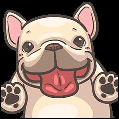 สติ๊กเกอร์ไลน์ French Bulldog—PIGU: Pop-Up Stickers