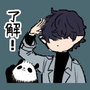 สติ๊กเกอร์ไลน์ KYUJITSU NO WARUMONO-SAN