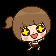สติ๊กเกอร์ไลน์ Kinoko สาวออฟฟิศ