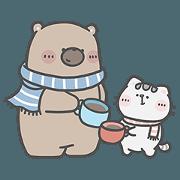 สติ๊กเกอร์ไลน์ คุณหมีและเจ้าเหมียว : LCM x SABINA