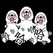 สติ๊กเกอร์ไลน์ Smiling Alpaca 2