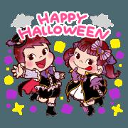 สติ๊กเกอร์ไลน์ Happy Halloween Peko Sticker