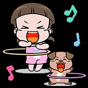 สติ๊กเกอร์ไลน์ NomYen & HuaKrien Pop-Up Stickers 3