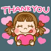 สติ๊กเกอร์ไลน์ PEKO Greeting Word Sticker