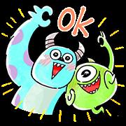 สติ๊กเกอร์ไลน์ Monsters, Inc. น่ารักและเป็นมิตร