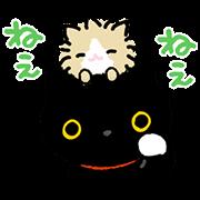สติ๊กเกอร์ไลน์ Kutsushita Nyanko เพื่อนรักเต็มไปหมด