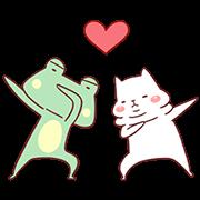 สติ๊กเกอร์ไลน์ Cutie Cat and Frog 2