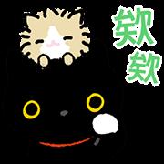 สติ๊กเกอร์ไลน์ Kutsushita Nyanko: Plenty of Pals