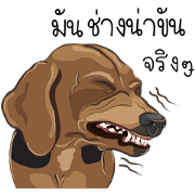 สติ๊กเกอร์ไลน์ ดัชชุน_หมาหน้าทะเล้น