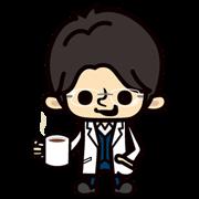 สติ๊กเกอร์ไลน์ Prof Yukawa from Galileo