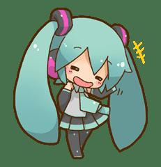 Hatsune Miku: All Together sticker #24356