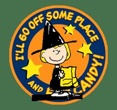 Snoopy Halloween sticker #4850