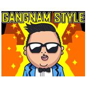 สติ๊กเกอร์ไลน์ PSY GANGNAM STYLE