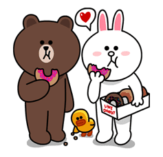 Brown & Cony's Lovey Dovey Date sticker #15047