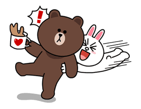 Brown & Cony's Lovey Dovey Date sticker #15051
