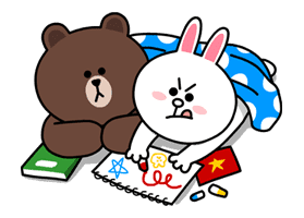 Brown & Cony's Lovey Dovey Date sticker #15052