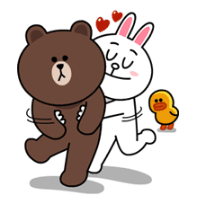 Brown & Cony's Lovey Dovey Date sticker #15054