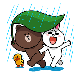 Brown & Cony's Lovey Dovey Date sticker #15055