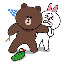 Brown & Cony's Lovey Dovey Date sticker #15056