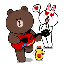 Brown & Cony's Lovey Dovey Date sticker #15057