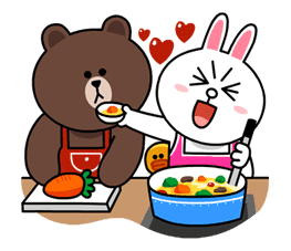 Brown & Cony's Lovey Dovey Date sticker #15062