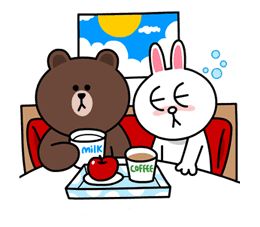 Brown & Cony's Lovey Dovey Date sticker #15063
