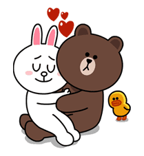 Brown & Cony's Lovey Dovey Date sticker #15067