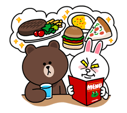 Brown & Cony's Lovey Dovey Date sticker #15072
