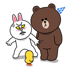 Brown & Cony's Lovey Dovey Date sticker #15075