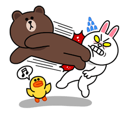 Brown & Cony's Lovey Dovey Date sticker #15078